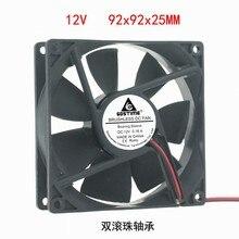 DC12V 24 V 48 V 2pin 9225 9 cm 90mm 92*92*25 double roulement à billes silencieux ventilateur de refroidissement sans brosse