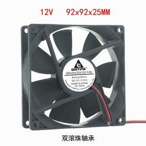 Image 1 - DC12V 24 V 48 V 2pin 9225 9 cm 90mm 92*92*25 double roulement à billes silencieux ventilateur de refroidissement sans brosse