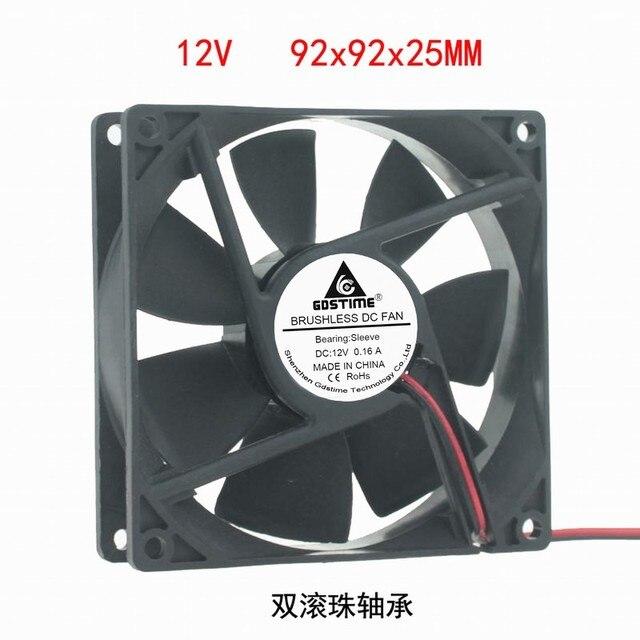 DC12V 24V 48V 2pin 9225 9cm  90mm 92*92*25 dual ball bearing silent Brushless Cooling Fan