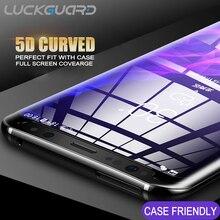 Для Samsung Galaxy S8 S9 плюс накладка закаленное Стекло не полный чехол для Galaxy S7 Edge Note 8 9 5D с уровнем твердости 9 H Экран защитная пленка