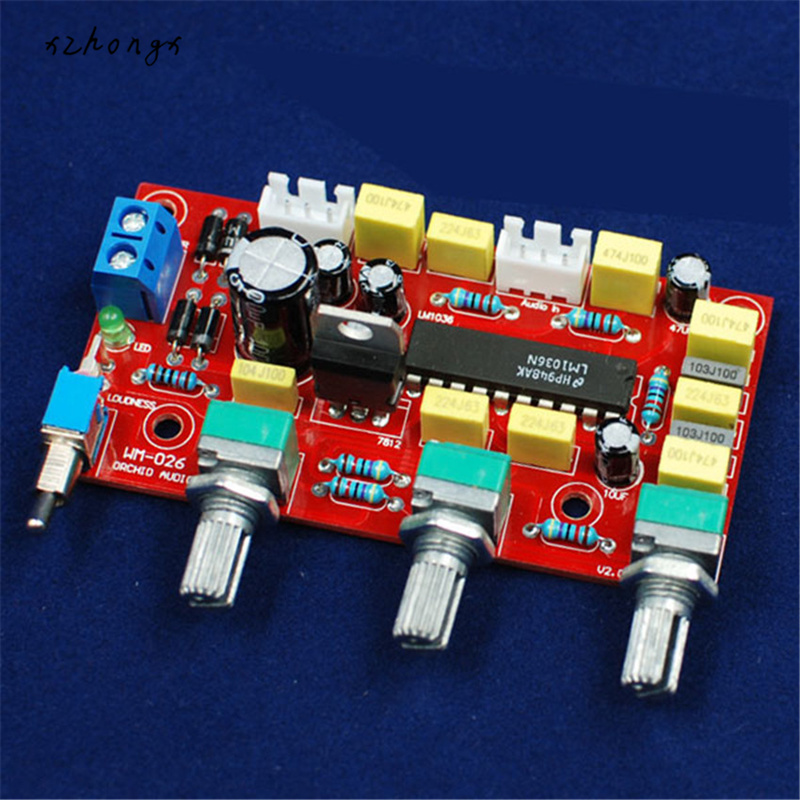 "Buy XNWY  DIY electronice suite Before ""HIFI LM1036 plate tones Power amplifier front plate parts kit diy kit for only 7 USD"