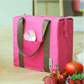 (Waterproof nylon+ aluminium film) women square lunch bags ladies girls picnic organizer pouch female bolsa feminina bolso mujer