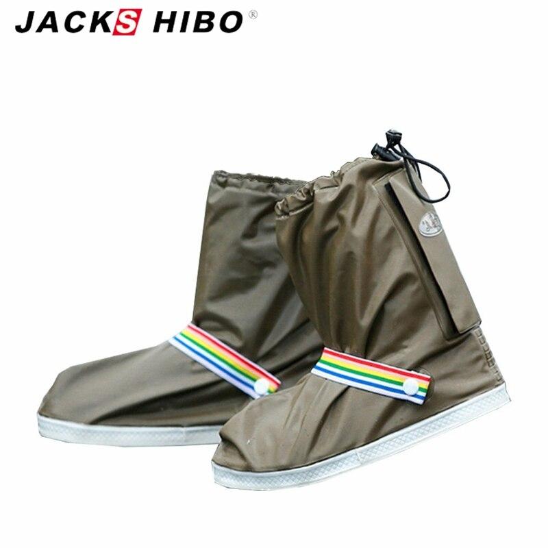 Jackshibo moda impermeable Fundas de zapatos hombres y mujeres y niños lluvia cubierta para Zapatos uso al aire libre Zapatos Accesorios