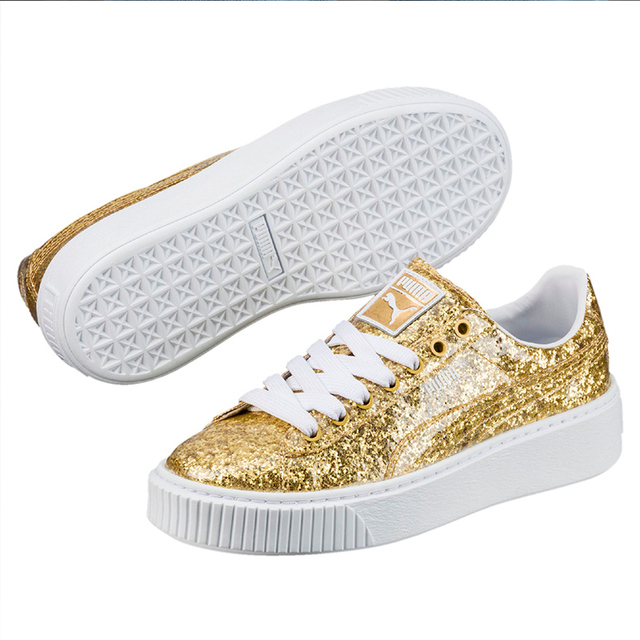 US $60.89 |2018 New PUMA Basket Platform Glitter Womens Trainers Badminton  Shoes-in Badminton Shoes from Sports & Entertainment on Aliexpress.com | ...