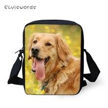 ELVISWORDS Fashion Women Messenger Bags Cute Labrador Animal Prints Pattern Shoulder Girls Flaps Handbags Mini Kids Mochila