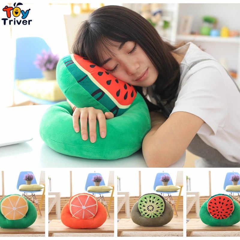 Triver игрушка плюшевый обеденный перерыв время сна подушка в форме фрукта арбуза/киви Фрукты/лимон/грейпфрут офисный стол ворс Бесплатная доставка