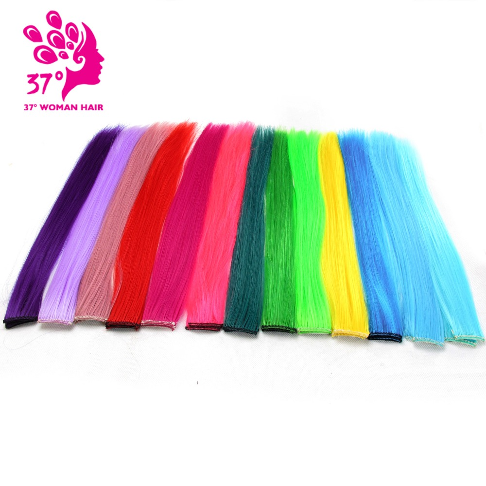 Synthetic Clip-in One Piece Well-Educated 13 Colors 40cm Single Clip In One Piece Hair Extensions Synthetic Long Straight Ombre Grey Blonde Red Hair Pieces 10pcs/lot Aromatic Character And Agreeable Taste