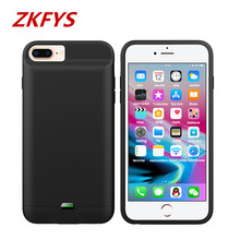 ZKFYS For iPhone 7 8 Charger Battery Case 3200mAh Portable Power Bank Charing With audio