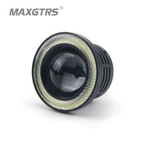 2Pcs Set 76mm 3 Inch Universal Waterproof COB LED Angel Eyes DRL Driving Light Daytime Running