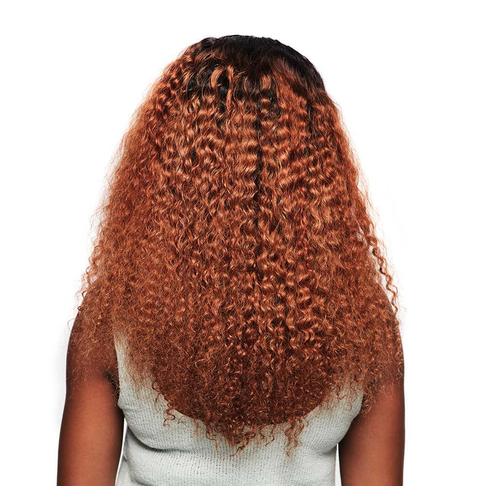 Megalook 1B/30 Kinky Kıvırcık Dantel Ön İnsan saçı peruk Ön Koparıp Bebek Saç ile Remy Saç Peruk 12-34 inç 210% Yoğunluk
