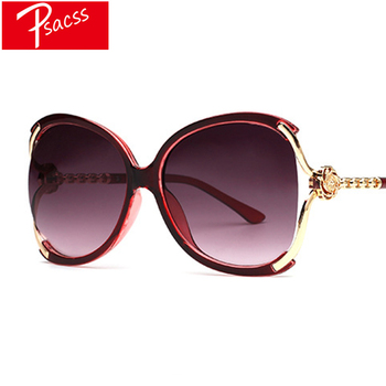 Psacss Elegant Oversized Sunglasses Women Vintage 2019 Brand Designer Female Shopping Sun Glasses oculos de sol feminino UV400