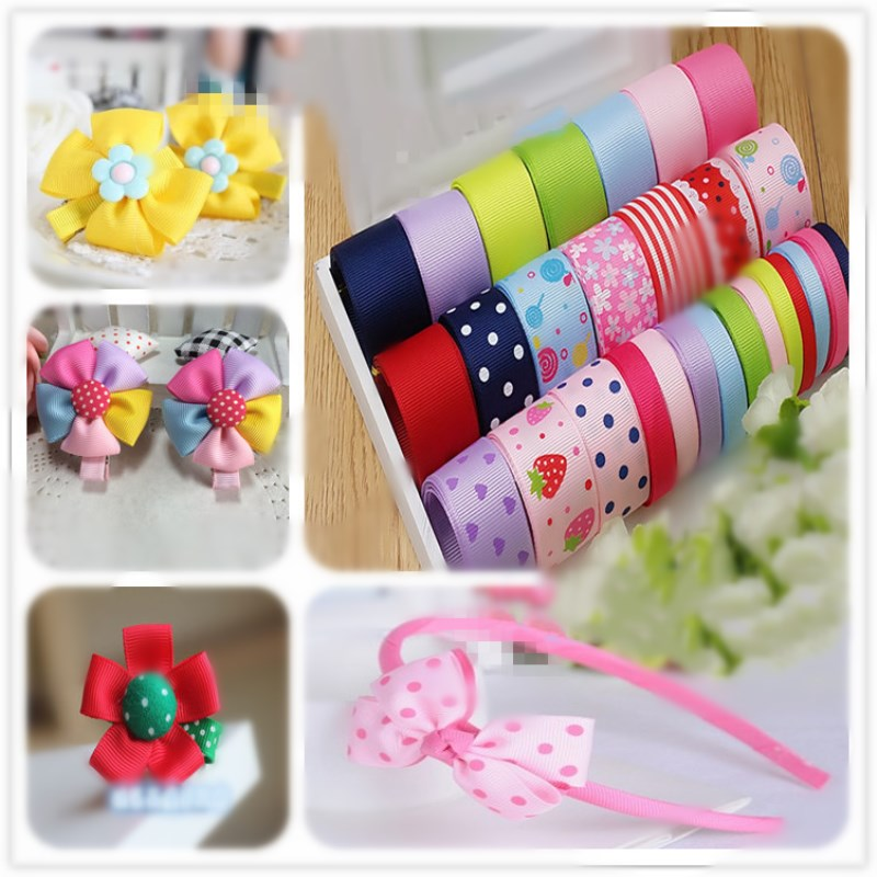 Mix 28 meters Cartoon Colorfully Ribbon Set diy hair accessory material accessories for Grils gift wedding decorations