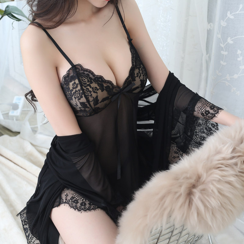 Whoholl Summer Sexy Nightwear Two Piece Lace Home Wear Clothes Lovely   Nightgowns   Sleepwear Women's Sleep & Lounge   Sleepshirts