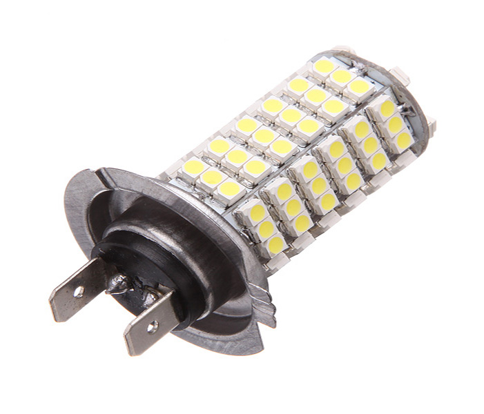 Car H7 120 LED 3528 SMD Pure White Auto Light Source Fog Driving Headlight Lamp Bulb DC12V Best Price l20121211 1 h7 12w 600lm 6500k 4 smd 7060 led white light car dipped headlight dc 12v