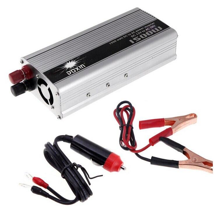 ФОТО 1500W WATT DC 12V to AC 230V Portable Car Power Inverter Charger Voltage Converter Transformer