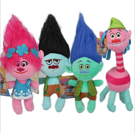 4 Colors Fast Delivery Dreamworks Movie Trolls Toy Plush Trolls Poppy & Branch Trolls Figures Magic Fairy Hair Wizard Kids Toys new kids personalized gifts trolls cartoon magic long hair princess doll gift anime toy figures led ledclock toys for children