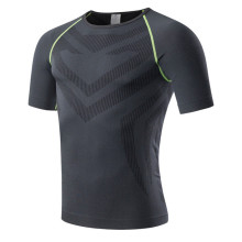 Фотография New Quick Dry Sports Running Jerseys Bodybuilding Sportswear Fitness Tight Blouse Men