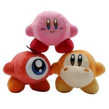 Kawaii Кирби милые плюшевые игрушки Розовый и красный цвет желтый Кирби звезд мультфильм мягкие куклы подарок для детей 14 см 3 шт./лот