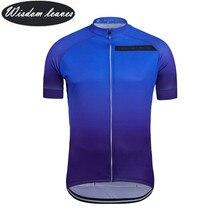 Мудрость листья 2017 дизайнер бренда Для мужчин profesional Велосипеды Джерси Для женщин с коротким рукавом велосипед одежда команды Мотокросс Майки