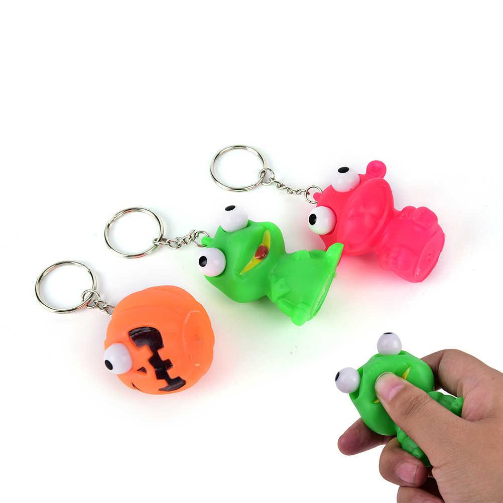 Novelty Venting Key CHAIN แหวนน่ารักสัตว์ความเครียดบรรเทาของเล่นพวงกุญแจล้อเล่น Decompression ขนาดเล็ก Squeeze ของเล่น POP OUT ตุ๊กตา
