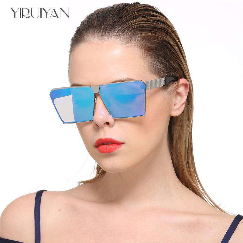 4ce667e1edc 2017 New Color Women Sunglasses Unique Oversize Shield UV400 Gradient  Vintage eyeglasses frames for Women Sun glasses Oculos on Aliexpress.com
