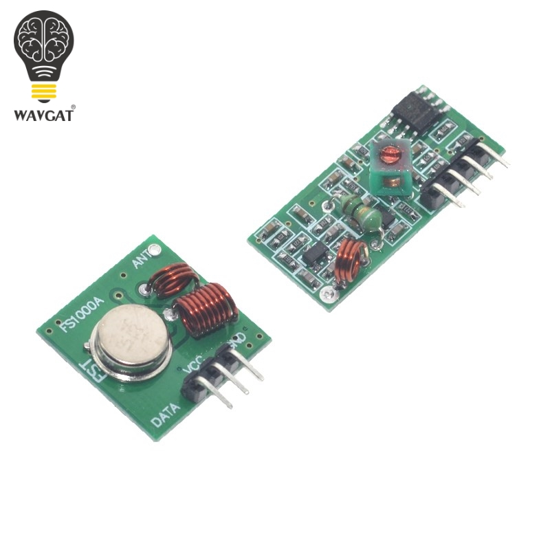 1Lot= 5pair (10pcs) 433Mhz RF Transmitter And Receiver Module Link Kit ARM/MCU WL Diy 433mhz Wireless Hot Sale