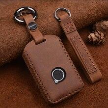 Ручной работы из натуральной кожи ключ дистанционного управления чехол сумка для VOLVO S90 V90 XC90 XC60 XC40 ключ чехол для автомобиля