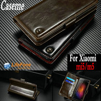 4 Colors Luxury Business Wallet Card Slot Style Stand Flip Cover Leather Case For Xiaomi M5