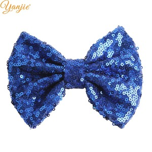 """Image 5 - DHL 300pcs/lot 5"""" Sequin Bow Girls Solid Glitter Knot Hair Bow For Kids 2020 DIY Hair Bow Headband Girls Hair Accessories"""