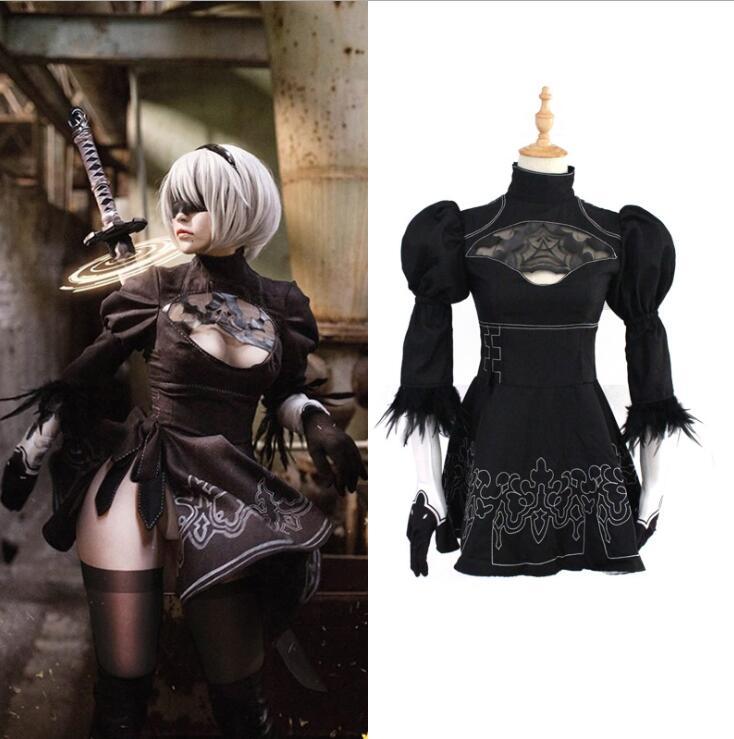 NieR: Automata YoRHa No.2 Type B Cosplay Dress and No. 9 S Uniforms NieR :  2B 9S Costume