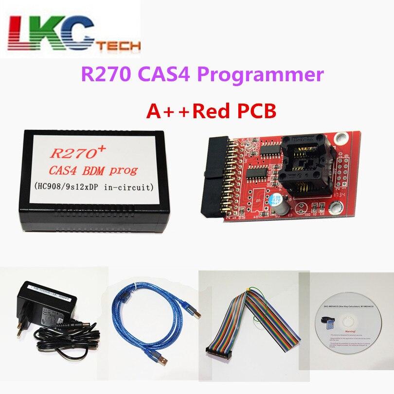 2pcs DHL free Original R270+V1.20 Auto CAS4 BDM Programmer R270 CAS4 BDM Programmer Professional for B-M-W key prog 2017 newest ak90 key programmer ak90 pro key maker for b m w all ews version v3 19 plus ak90 with free shipping