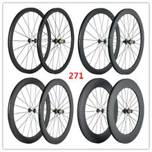 SuperTeam Carbon wheel 700C Road Bicycle wheelset 38/50/60/88mm(China)
