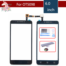 For Alcatel One Touch Pixi 4 6.0 OT5098 5098 5098O Touch Screen Digitizer Sensor Outer Glass Lens Panel Replacement цены онлайн