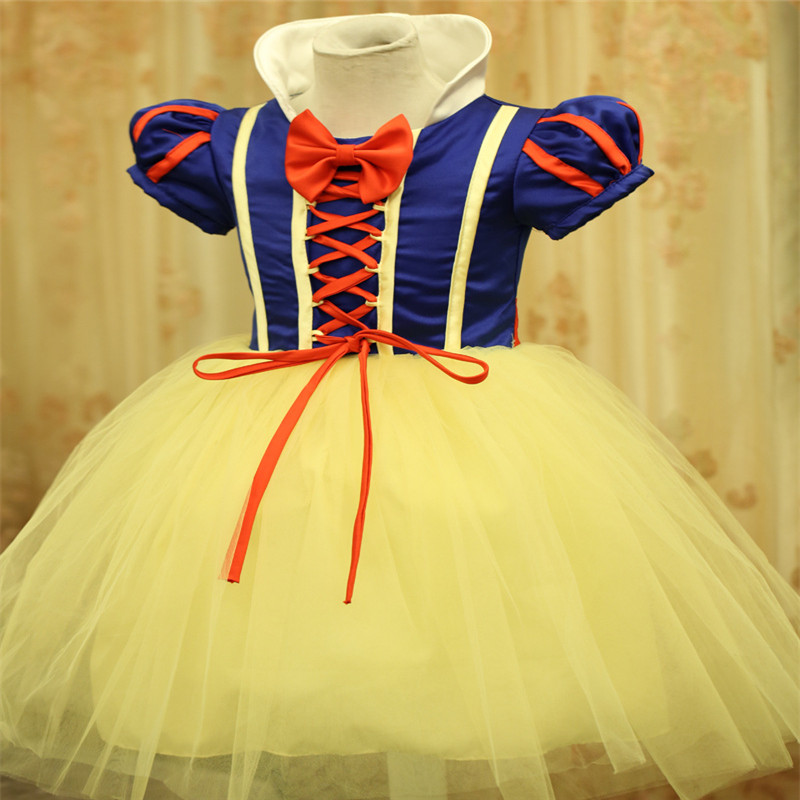 Nicoevaropa 2018 Princess Girls Dresses Costume Children Halloween and Christmas Snow White Cosplay Fancy Dresses Kids Vestido