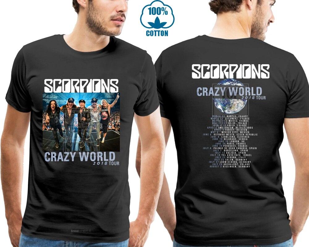 S Camiseta Hombre Negra A World Tour Scorpion 2018 4xl Talla Para Crazy OkXP8n0w