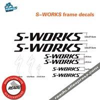S-works Adesivi Portabiciclette bici Da Strada Mountain Bike Telaio stickers Bike decalcomanie flash logo logo formato due