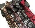 2017 NUEVO Lujo tie 8 cm corbata formal de caballeros con clase única gran paisley corbatas tejidas (4 colores para elegir)