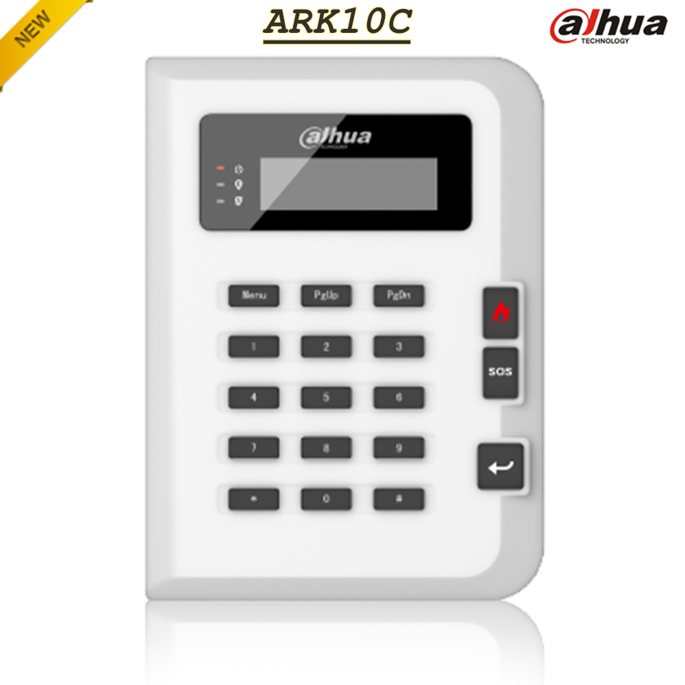 Фотография English Dahua Alarm Keypad ARK10C 18 keys and LCD screen RS485 Multi-user operation rights Home Security GSM Alarm System