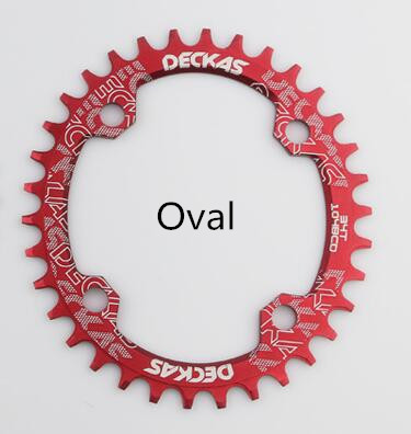 Deckas Oval Chainring MTB Mountain bike bicycle chain ring 104BCD 32T 34T 36T 38T ultralight crankset Tooth plate Parts 104 BCD motsuv bicycle crank 104bcd oval 32t 34t 36t 38t chainring narrow wide ultralight mtb bike chainwheel circle crankset plate
