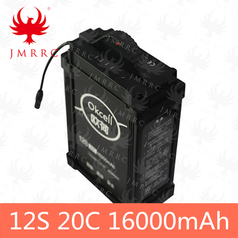 JMRRC agricultural plant protection spraying drone smart lipo-<font><b>battery</b></font> 12S 44.4V 20C <font><b>16000mah</b></font> image