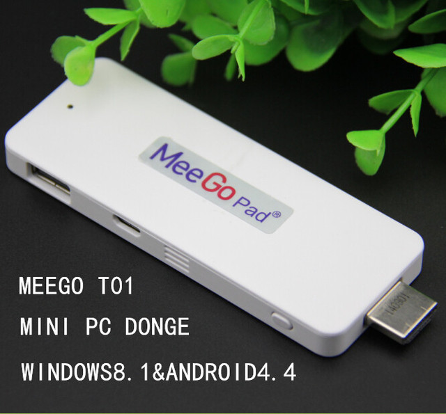 Meegopad windows mini pc windows8.1&Android4.4 dual OS mini pc dongle win8 mini pc 2G  Ram  windows tv stick wintel box htpc