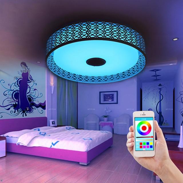 Bluetooth musik Deckenleuchten intelligente LED APP wohnzimmer ...
