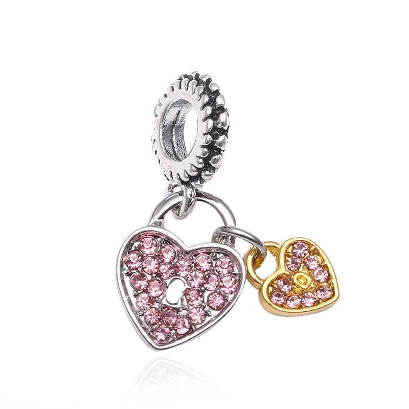 BAOPON 2 шт./лот Лидер продаж вечерние бусины круглой формы кристалл шармы бусины кулон Fit Pandora женские браслеты и браслеты DIY ювелирные изделия