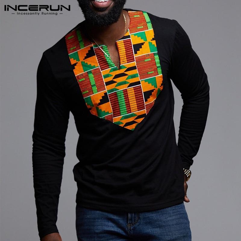 BYWX Men Classic Stand Collar African Print Dashiki Buttons Shirts