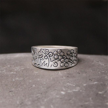 Pure 990 Sterling Silver Rings Flower Pattern New Fashion 100% S990 Solid Sterling Silver Ring for Women Men Jewelry недорого