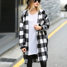 chic women blouse new female festivals classics comfort womens top plaid shirt ladies clothing long