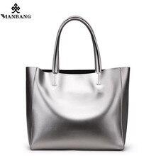 2017 Big Capacity Women Shoulder Bag Genuine Leather ladies shopping handbag luxury fashion large space female bag