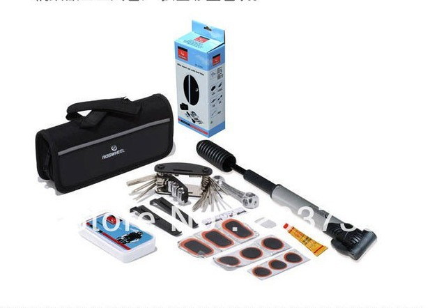 moutain bicycle Bike Bicycle Tyre Repair 16 in 1 Multifunctional and Practical Tool Set Kit mini portable Pump, Free Shipping