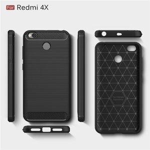 Image 2 - Für Xiaomi Redmi 4X Fall Stoßstange Anti knock Weiche TPU Silicon Abdeckung Carbon Fiber Rüstung Fall Abdeckung Für Xiaomi redmi 4X Pro