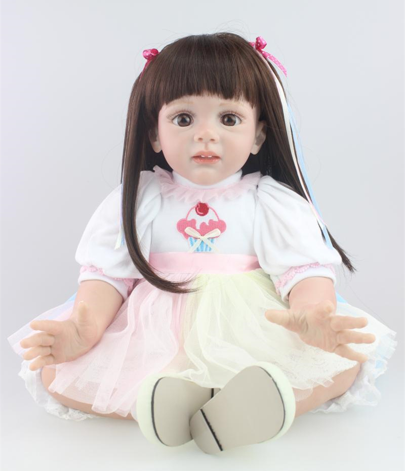24 inch Toddler Reborn Fridolin lovely childrens dolls high quality collection doll toy for girls